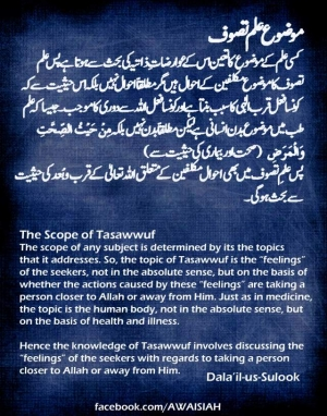 The Scope of Ilm-e-Tasawwuf