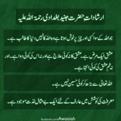 Teachings of Hazrat Junaid Baghdadi RA